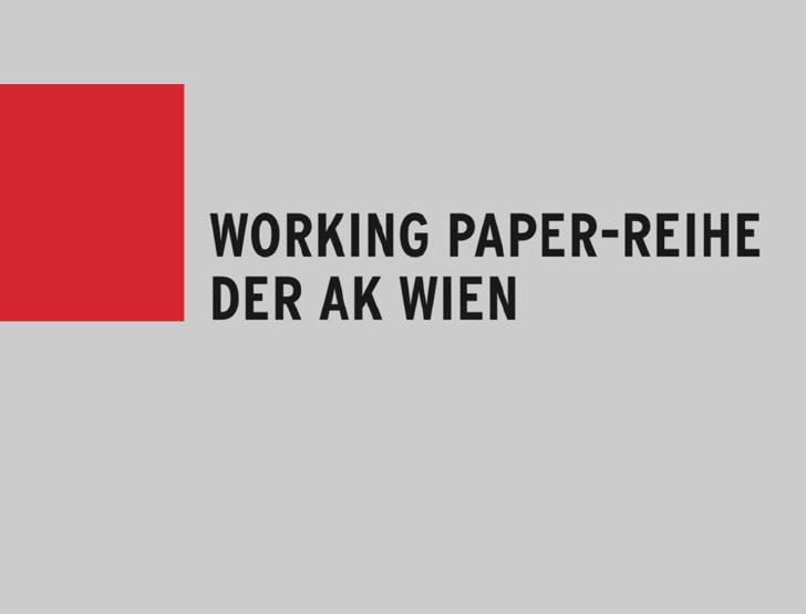 Coverbild Working Paper-Reihe der AK Wien © Matthias Schnetzer